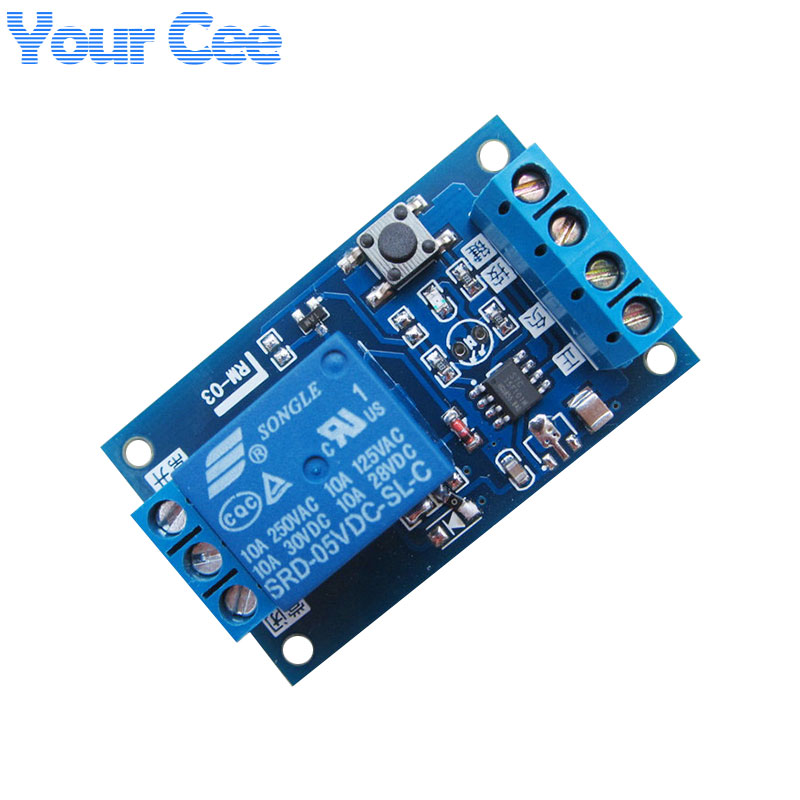 5V Single Bond Button Bistable Relay Module Modified Car Start and Stop Self-Locking Switch One Key5V Single Bond Button Bistable Relay Module Modified Car Start and Stop Self-Locking Switch One Key