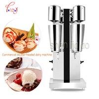 Duplo Em Aço Inoxidável Comercial Máquina de Milk Shake Misturador Liquidificador Fazer Espuma de Leite/Chá Da Bolha Máquina Liquidificador 1pc