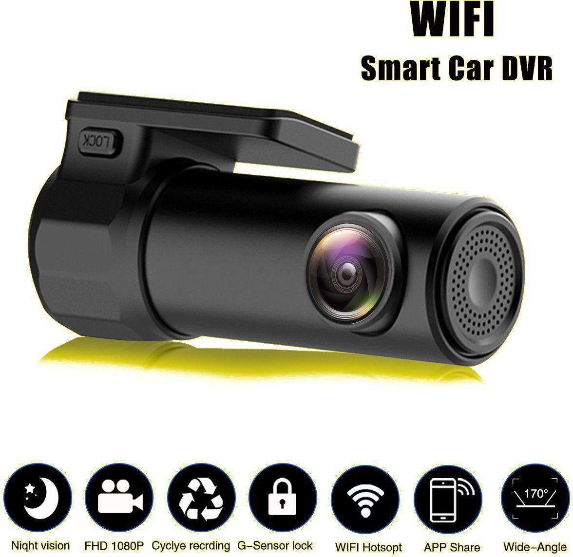 Camcorder Dash Camera HD 1080P Mini Wifi Hidden Car DVR Camera Video Dash Cam Recorder Night Vision 170 degree mobile monitoring