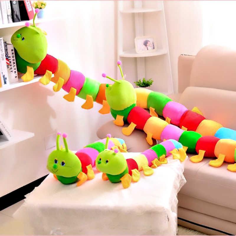 الملونة اليرقات أفخم الاطفال لعب للأطفال 50 سنتيمتر أفخم لينة عقد وسادة دمية بنين ألعاب بنات Peluche وسادة هدايا جديدة