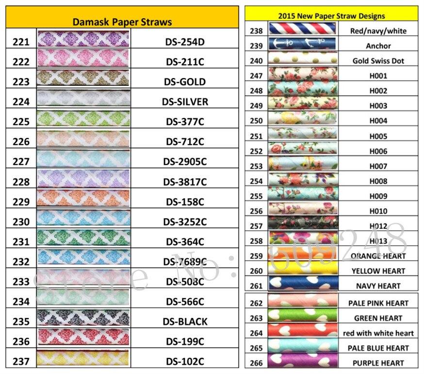 Freies DHL Verschiffen 10000 stücke Wählen Farben Papierstrohe Wholesale 300 Farben oder Designs Günstigste Papiertrinkhalme Party Decor-in Party Einweggeschirr aus Heim und Garten bei  Gruppe 1