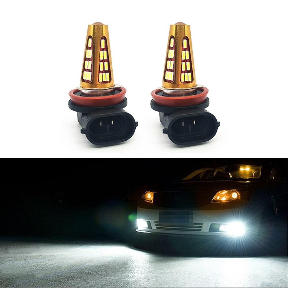 Welbeck extremadamente brillante H8 H11 41 SMD 4014 LED bombillas de niebla con proyector para DRL luces led o niebla 6000 K blanco