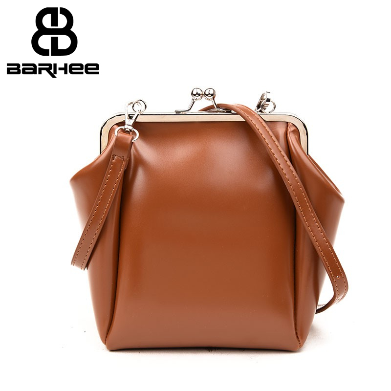 Vintage Clip Purse Wide Strap Women Handbag Female Handbags Belt Messenger Bag Ladies Crossbody Designer Oil PU Leather Bolsa