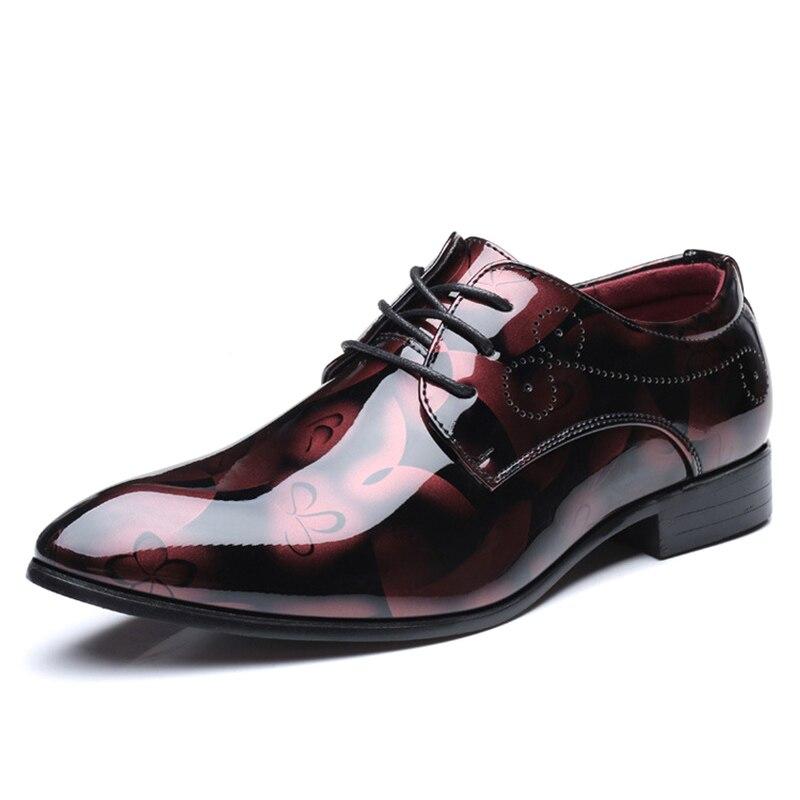 Oxford Taille En Bleu Pointu Robe rouge Zapatos De Bout Plus Pour Hommes 48 jaune Brevet Formelle Cuir D'affaires Mariage La Chaussures gris wEUqwaA
