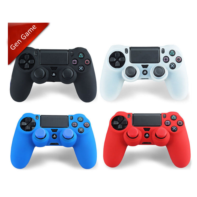 Silicone Gel Gamepad Joypad Protective Skin Cover Case For Sony PlayStation Dualshock 4 PS4 Controller Protection Shell 100pcs a lot wholesale silicone case skin shell protective cover for wii for u gamepad protector full body