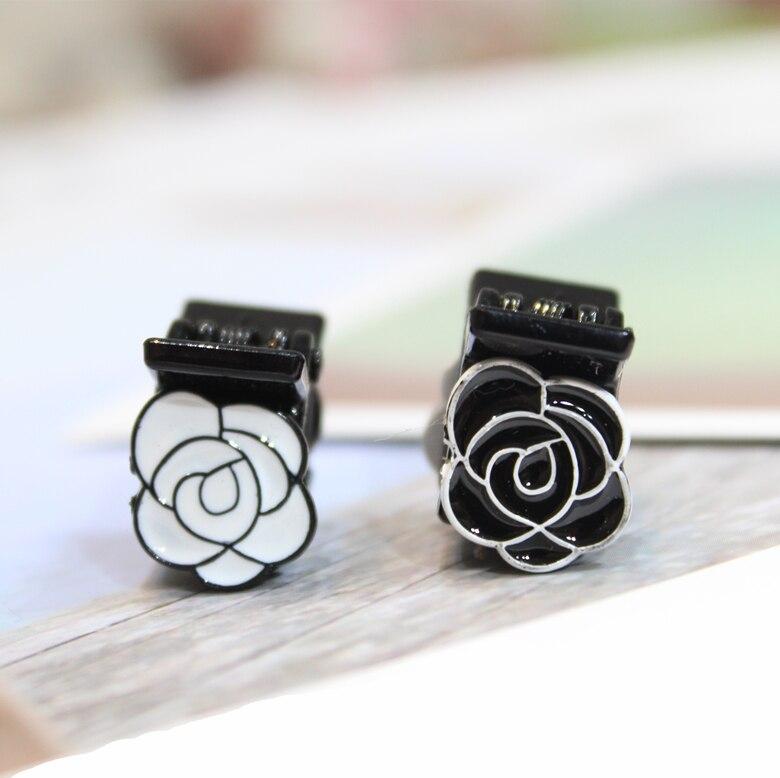 Fashion   headwear   mini Camellia flower crab Claw Clip For Women Girl Wedding Hair Jewelry Hair Feeder Horsetail Clip Accessories