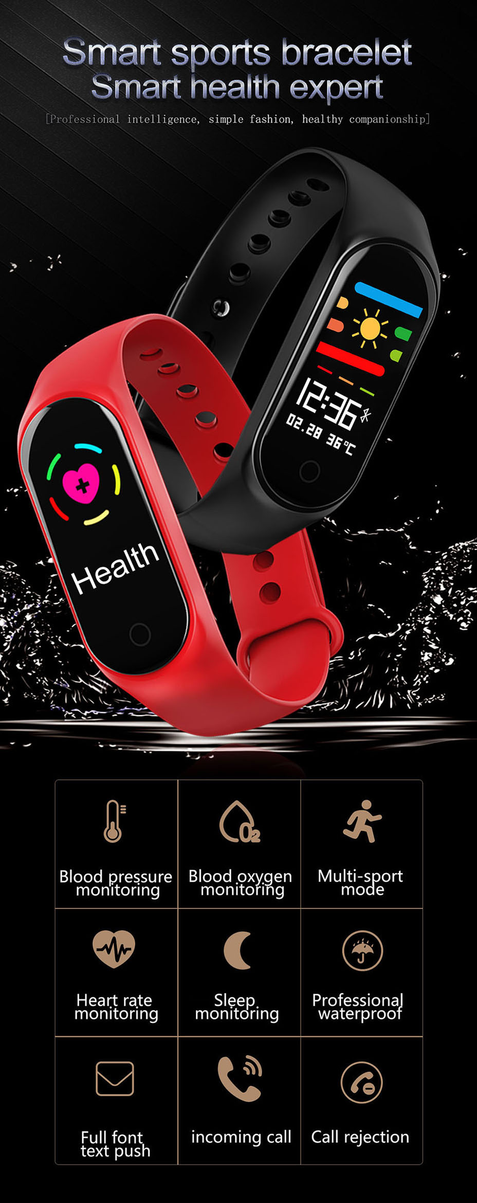 COLMI M3S Smart Bracelet Color-screen Fitness Tracker blood pressure Heart Rate Monitor sleep tracker Wristband For Android IOS 1