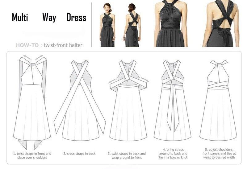 c6f4bc9779b10 Women Fashion Sexy Maxi Dress Multiway Halter Wear Wrap Variety ...