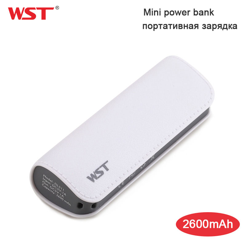 WST Mini Power Bank Portable Charging Battery External Batteries for Samsung iPhone Mobile Powerbank USB Ports Batteries Charger
