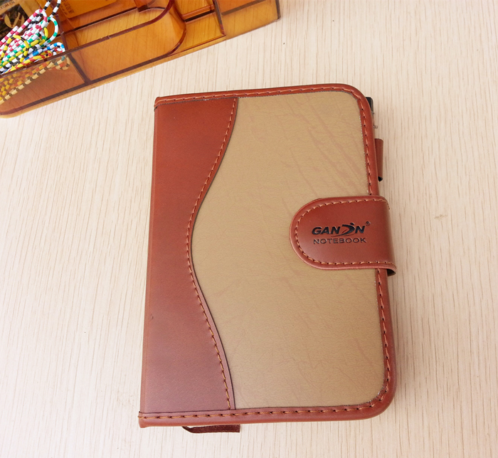 A6 Small Senior Business Notebook, Retro Style Leather Notebook, Learning Diary