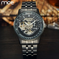 New 2016 Luxury Brand MCE Stainless Steel Mechanical Watches Men Skeleton Automatic Mechanical Chronograph Wristwatch with Box