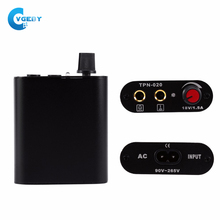 Mini Professional Black Metal Mini Tattoo Power Supply Motor Power With Cable Cord Power Supply For Tattoo Machine US/UE Plug