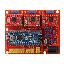 1 X V4 щит с ЧПУ гравер 3D-принтеры Плата расширения A4988 красный