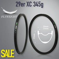 2018 New 345g 29er MTB Carbon Rim Tubeless Ready For XC Cross Country Wheels Hookless Style 30mm Width 25mm Depth