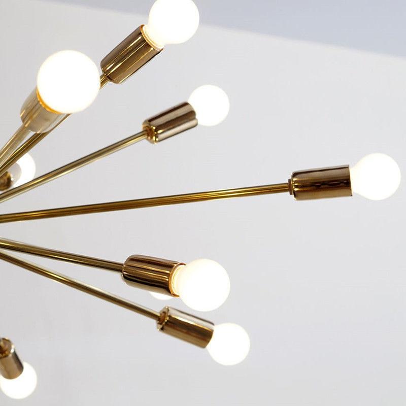 Mitte Des Jahrhunderts Messing Sputnik Kronleuchter 18 Arme Moderne  Anhänger Lampe Hängen Licht Für Wohnzimmer Home Decor Esszimmer Freies In  Mitte Des ...