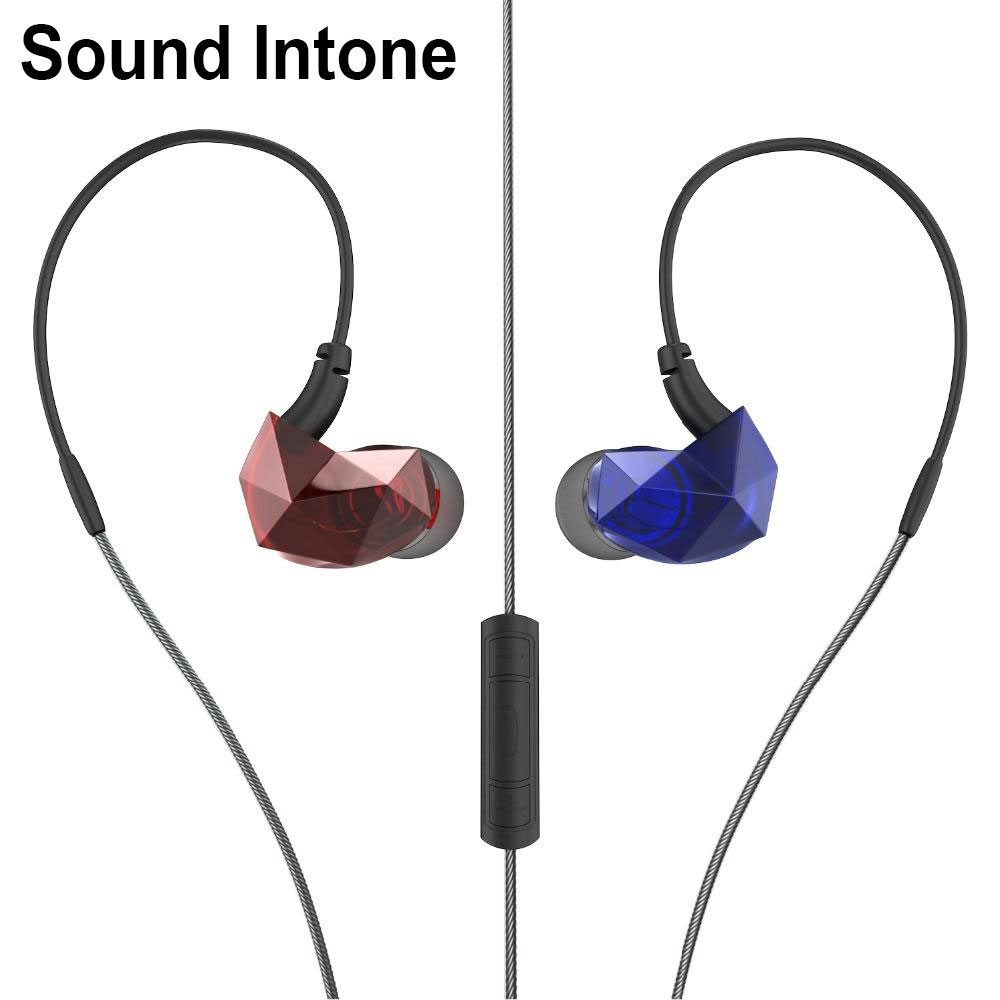 2016 Sound Intone E6 Sport In-ear Noise Isolating Earphones with In-line Microphone and Remote Volume Control