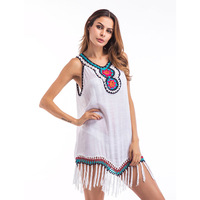 New People In Europe America Big Code Fat MM Bamboo Dress Women S Clothes Vest