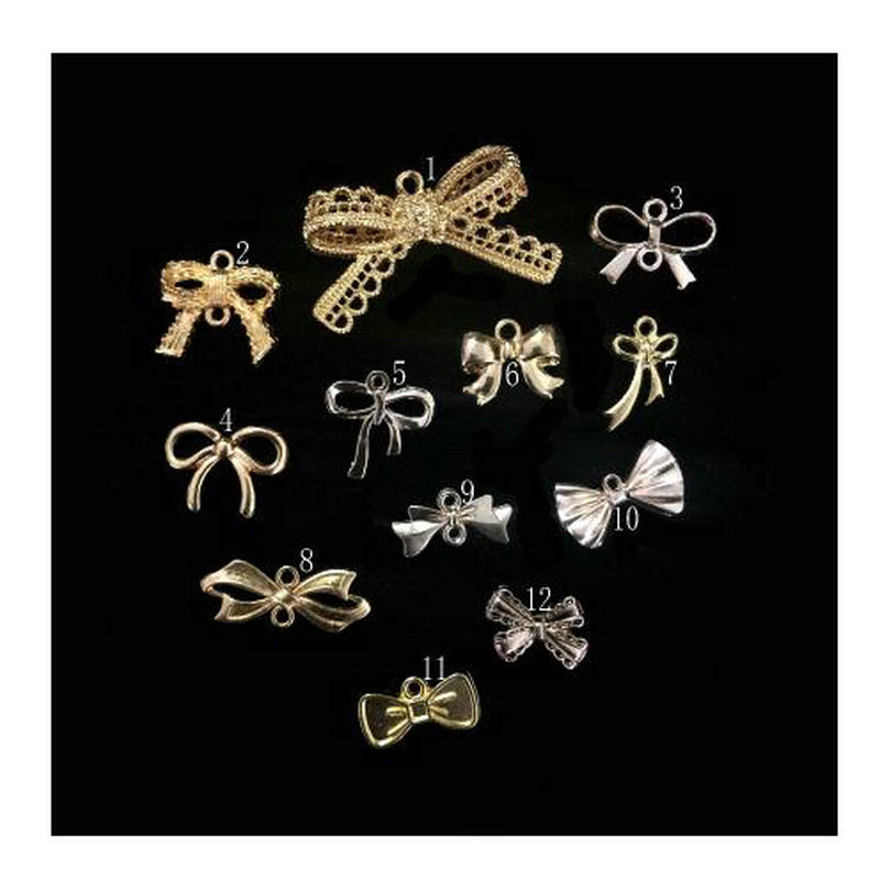 10-30pcs Lace Bowknot Jewelry Pendant Accessories DIY Handmade Kawaii Metal Bow Charms Findings Decorations Cute Connector Art