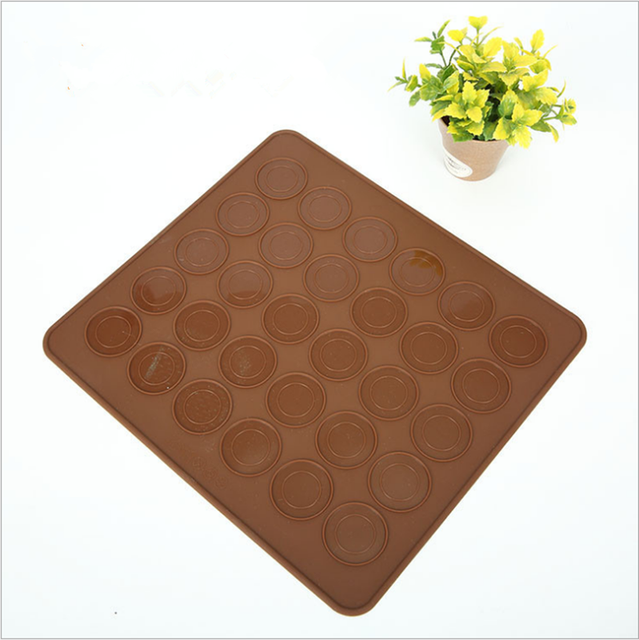 Silicone Macaron Macaroon Pastry Oven Baking Mould Sheet Mat 30-Cavity DIY Mold Baking Mat Useful tools