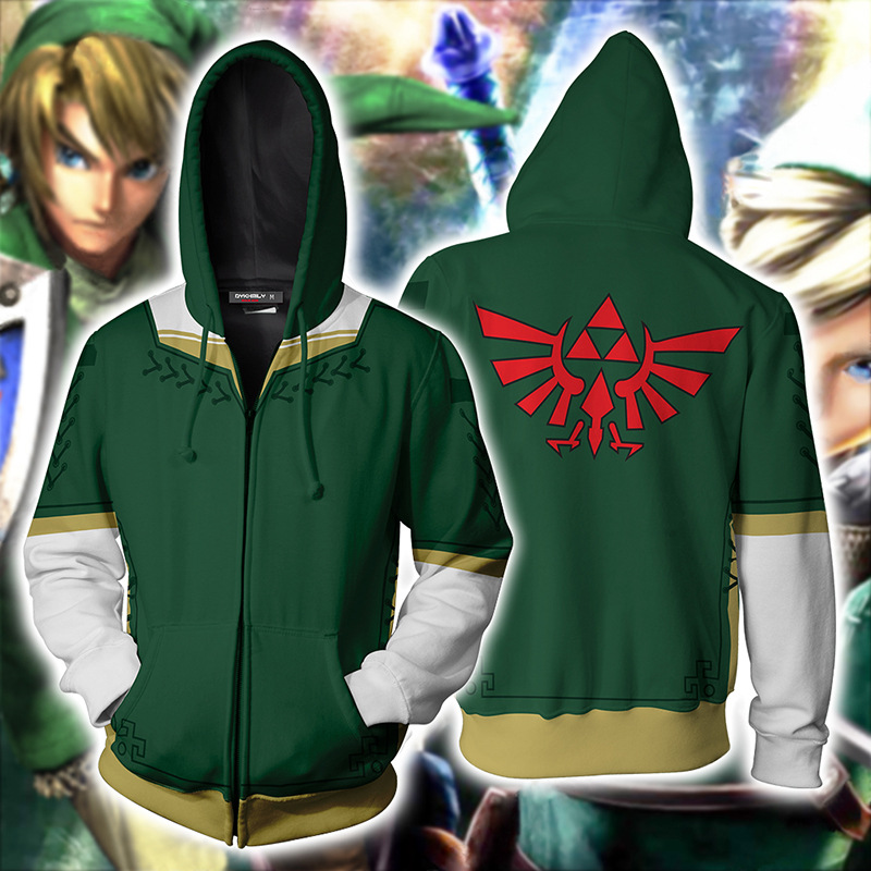The Legend of Zelda: Breath of the Wild link Hoodies Jacket Cosplay Costume Princess Zelda Hoodies Sweatshirts Men women sweater