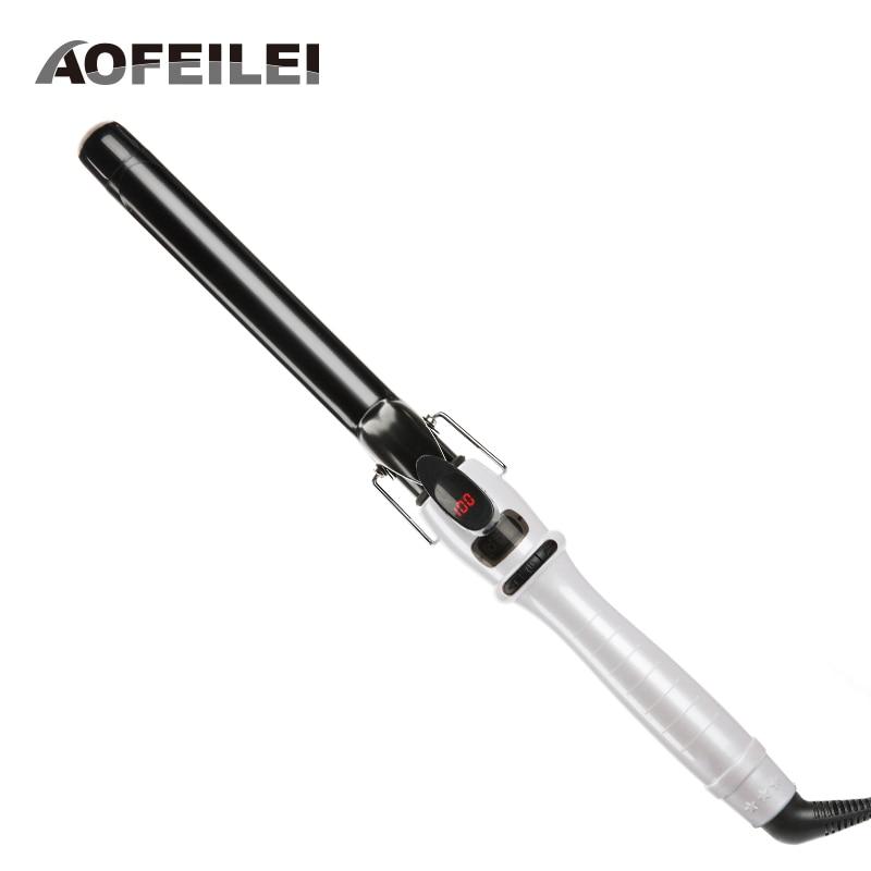Modelador de Cabelo Venda Real Profissional Rolos Automático Cerâmica Cone Salão Curling Ferros Varinha Hairestilo Ferramenta Elétrica Encaracolado 2020