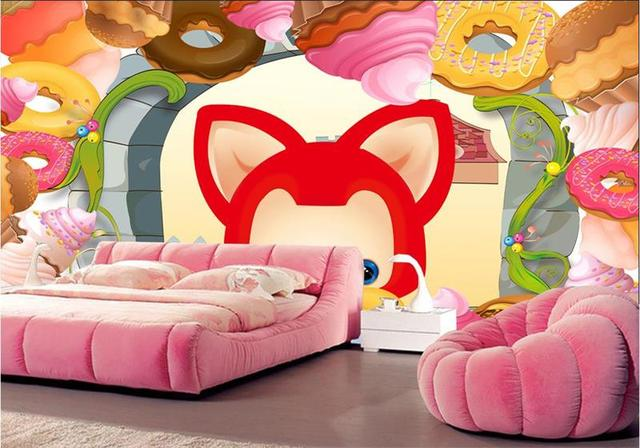 3d Photo Wallpaper Custom Kids Room Murals Non Woven Sweet Fox Lovely TV Background