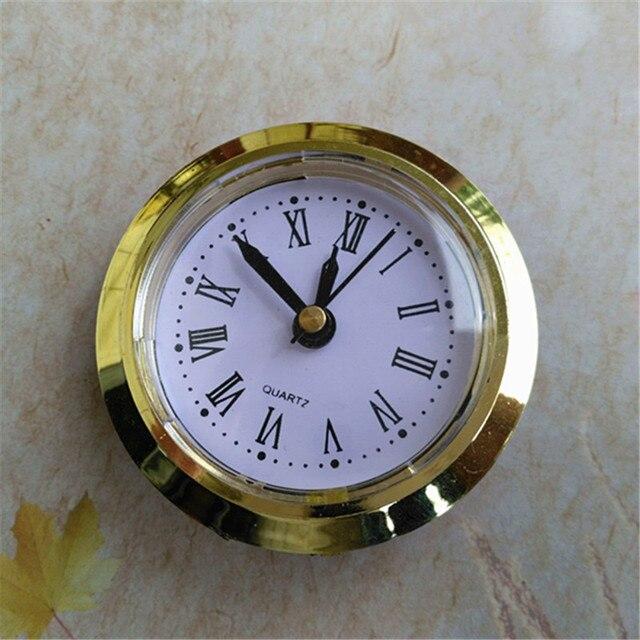 5PCS 50MM Built - in Clock Insert QUARTZ CLOCK FIT-UP/Insert Gold Trim DIY Clock Head