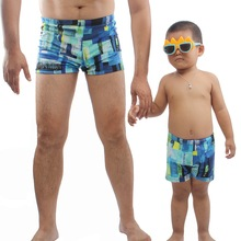 Dad and Son Quick Dry Swimming Trunks Family Look Father Swimwear Shorts Matching Clothes Beach Wear Swimsuits Bathing Suits