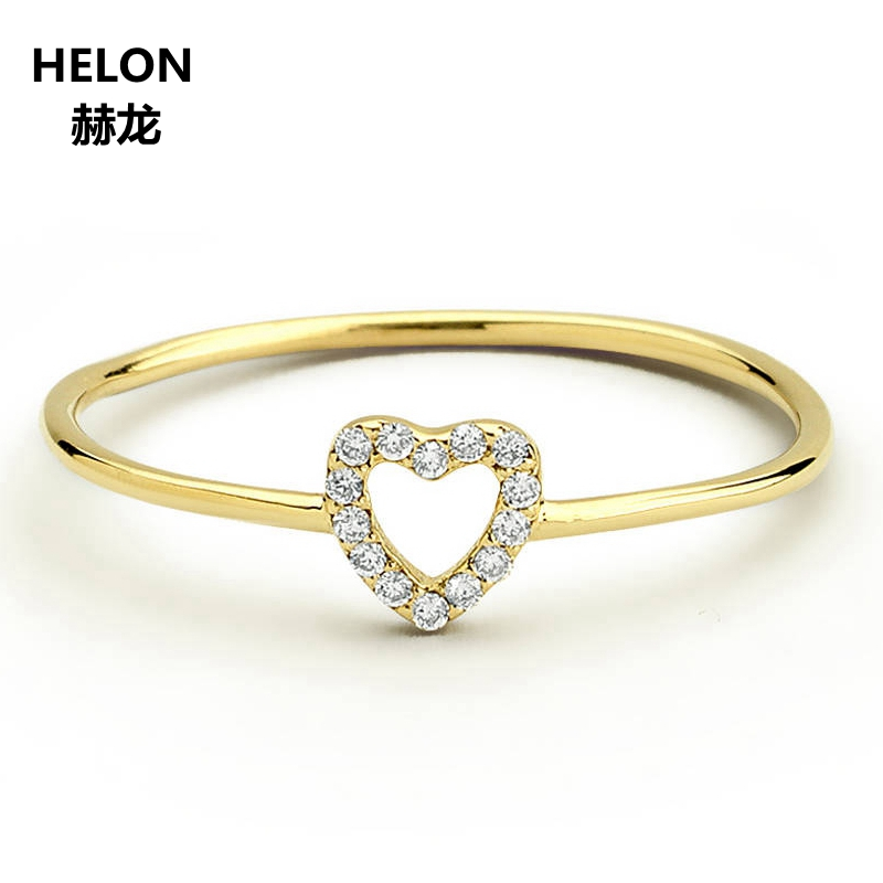 18e456636 0.07ct SI/H Natural Diamonds Engagement Wedding Women Ring Solid 14k Yellow  Gold Party Anniversary Fine Jewelry Heart Hole - aliexpress.com - imall.com