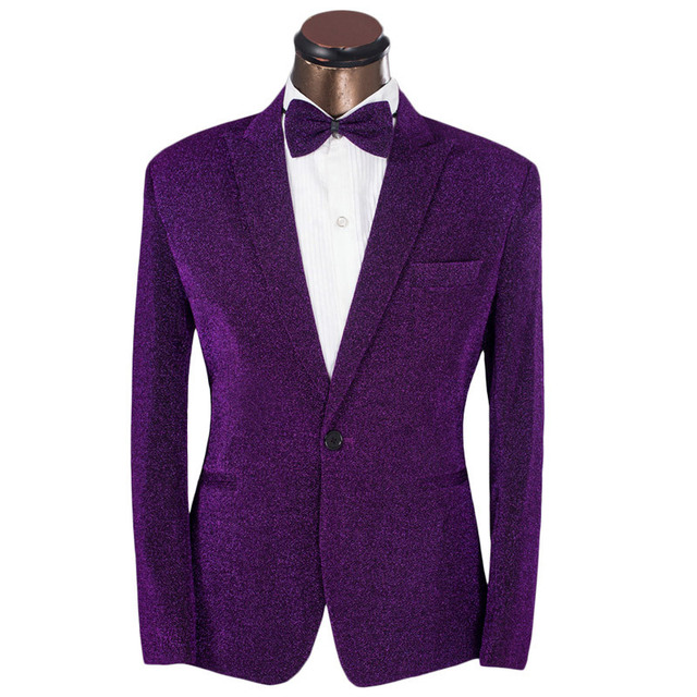 2016 New Arrival Men Suits Casual Brand Mens Slim Fit Purple Suit ...