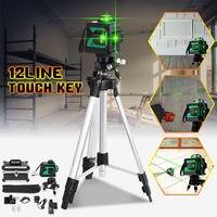 12 линия 3D зеленый лазерный уровень самостоятельно 360 поворотными открытый Приемник выравнивания вертикальные и горизонтальные крест уровн...