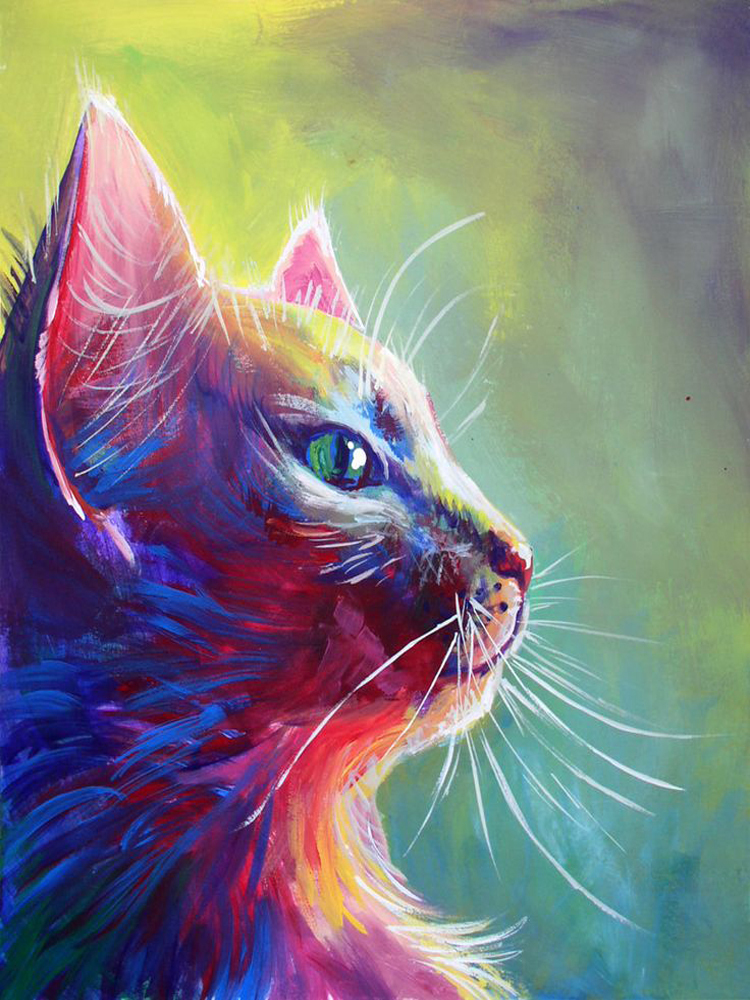 Buy bright colors hand painted high for Animal oil paintings