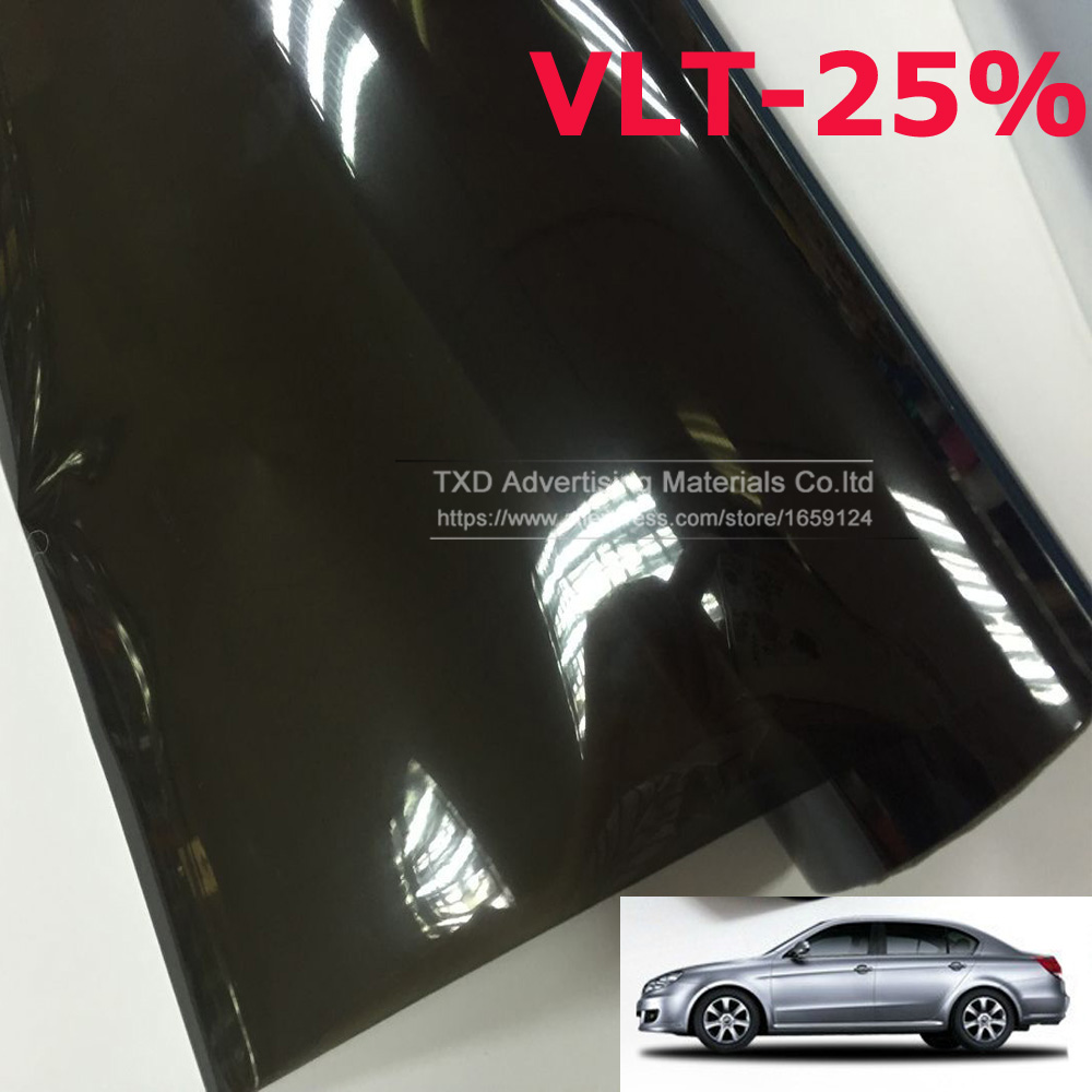 50cmx300cm car window tint film glass vlt 25 2ply car for 2 ply window tint film