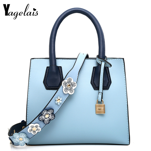 b4d61ff60c2d Для женщин синий коричневый клатч цветок замок украшения ручной Сумки на  плечо Повседневное Сумки через плечо