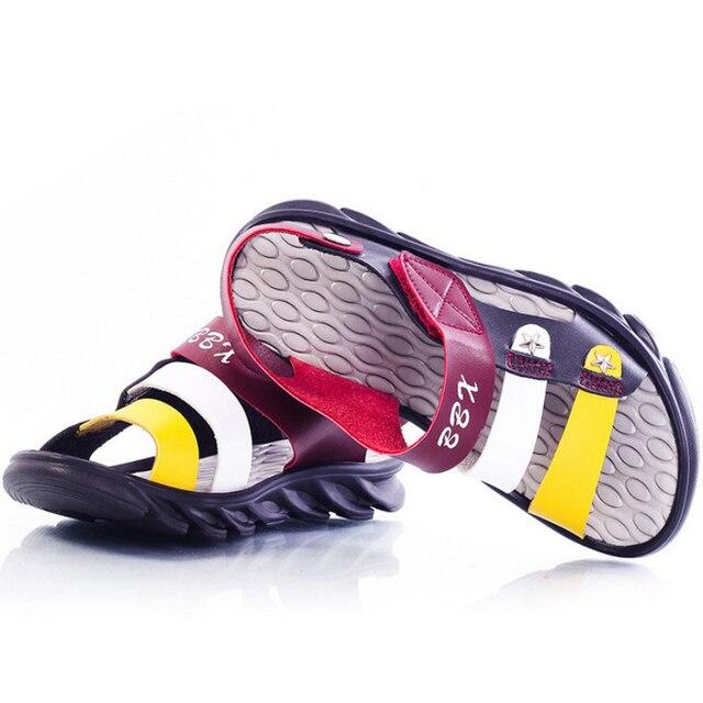 BBX Марка 2017 Дети Сандалии с Открытым Носком Сандалии Текстильной Детские Сандалии легкий Единственным Немного Лета Shoes1516