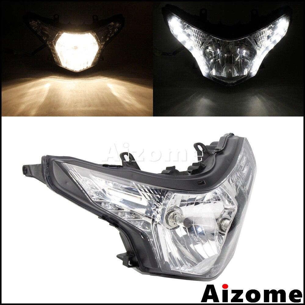 Motorcycle H4 Bulbs Daytime Running Headlight LED Turn Light Headlamp Assembly For Honda CBR250R CBR250 CBR 250 R 2008-2013