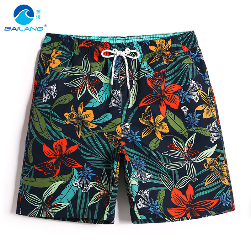 Men's bathing suit   board     shorts   hawaiian bermudas liner quick dry swimsuit beach   shorts   joggers plavky surfing swimwear mesh