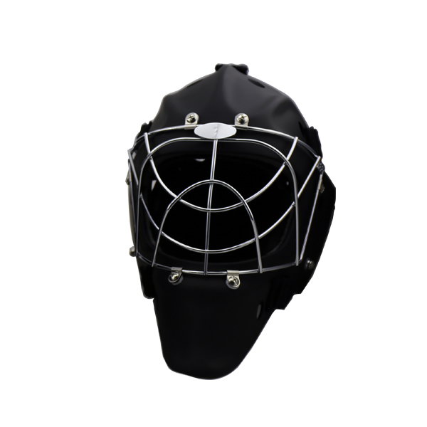IFF standard CE Approved bright black hockey goalie helmet against floorball goalkeeper  full face floorball mask faceshield goalie mask hockey goalie helmet for goalikeeper free shipping