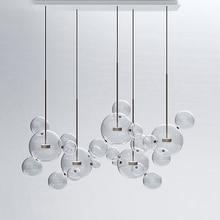 hot deal buy led postmodern nordic iron glass bubbles designer led lamp led light.pendant lights.pendant lamp.pendant light for dinning room