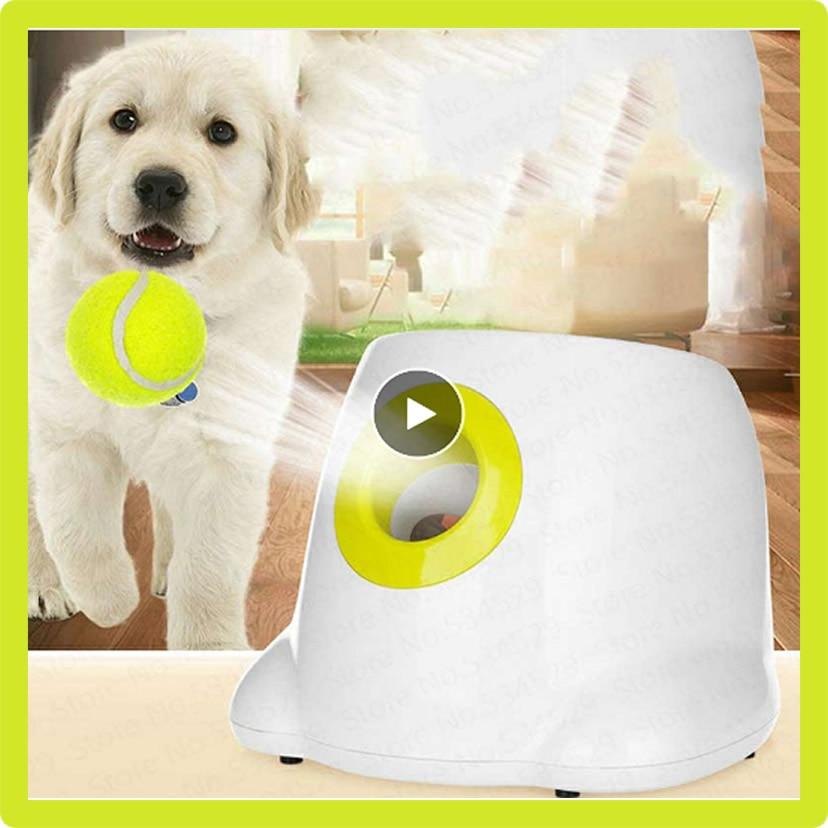 Lanceur de balle pour chiens jouet lanceur de Tennis jouets sautants balle de Tennis activation automatique du lanceur de balle pour chien