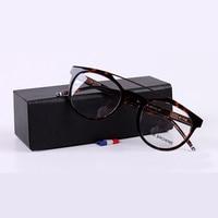 2018 High Quality Computer Eyeglasses Men Women Round Vintage Glasses Frame Computer Eyewear Myopia Oculos With Original Case