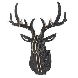 Dozzlor 3d de madeira animal veados cabeça modelo arte casa escritório parede pendurado decoração armazenamento suportes prateleiras presente artesanato decoração para casa