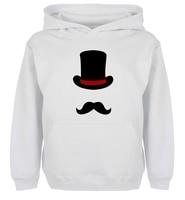 Unisex Fashion ENGLISH GENTLEMAN Top Hat Moustache Design Hoodie Men's Women's Girl's winter jacket Sweatshirt