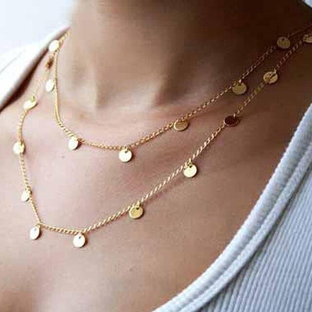 Böhmen Vintage Gold Farbe Einfache Quaste Lange Halskette Lange