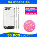 FREE DHL X 50 PCS LOT Chassis for iPhone 4S Middle Frame Bezel Midframe Housing Replacement Parts