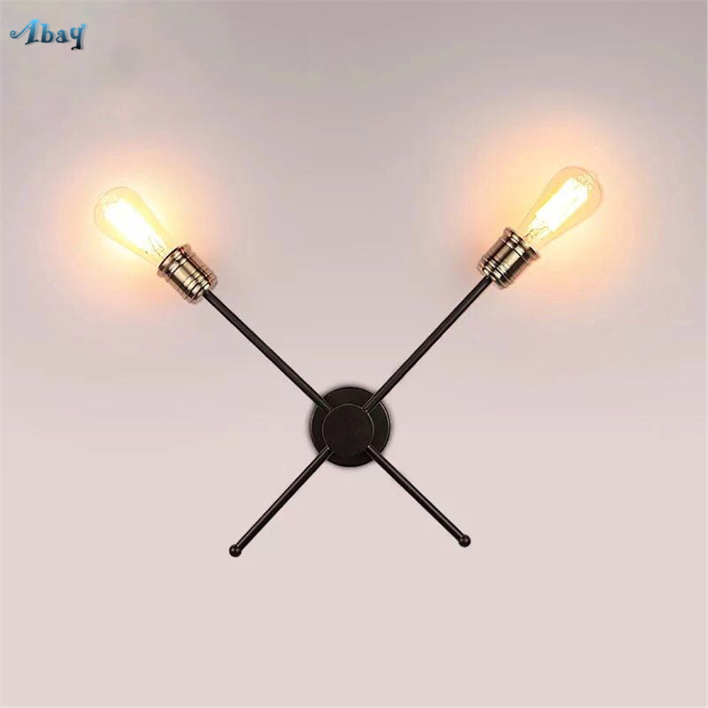 Nordic Creative Iron Art Wall Lamps Cross Shape Black for Living Room Bedroom Kitchen Corridor Home Deco Light Fixtures Led E27Nordic Creative Iron Art Wall Lamps Cross Shape Black for Living Room Bedroom Kitchen Corridor Home Deco Light Fixtures Led E27