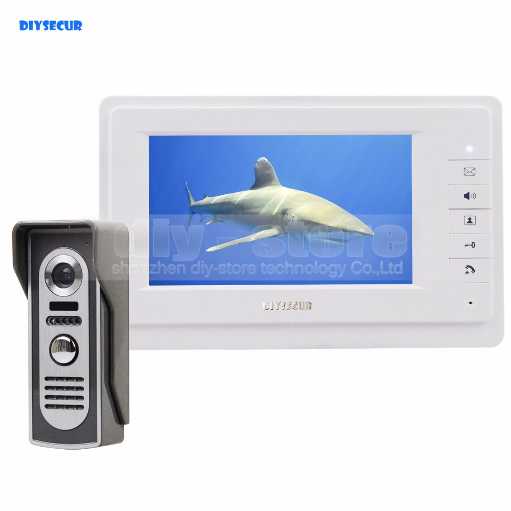 DIYSECUR 600TVLine IR Camera 7 inch TFT Color LCD Display Video Door Phone Intercom Doorbell Night Vision стоимость