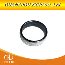 125khz/13.56mhz t5577 ou uid chip rfid prata brilhante cerâmica anel de dedo inteligente usar para homem ou mulher