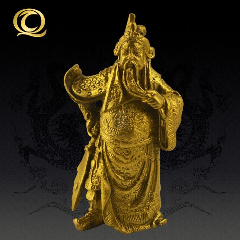 Kai Cheng 3 inch copper font b knife b font Guan Li Guan bronze ornaments Fortuna