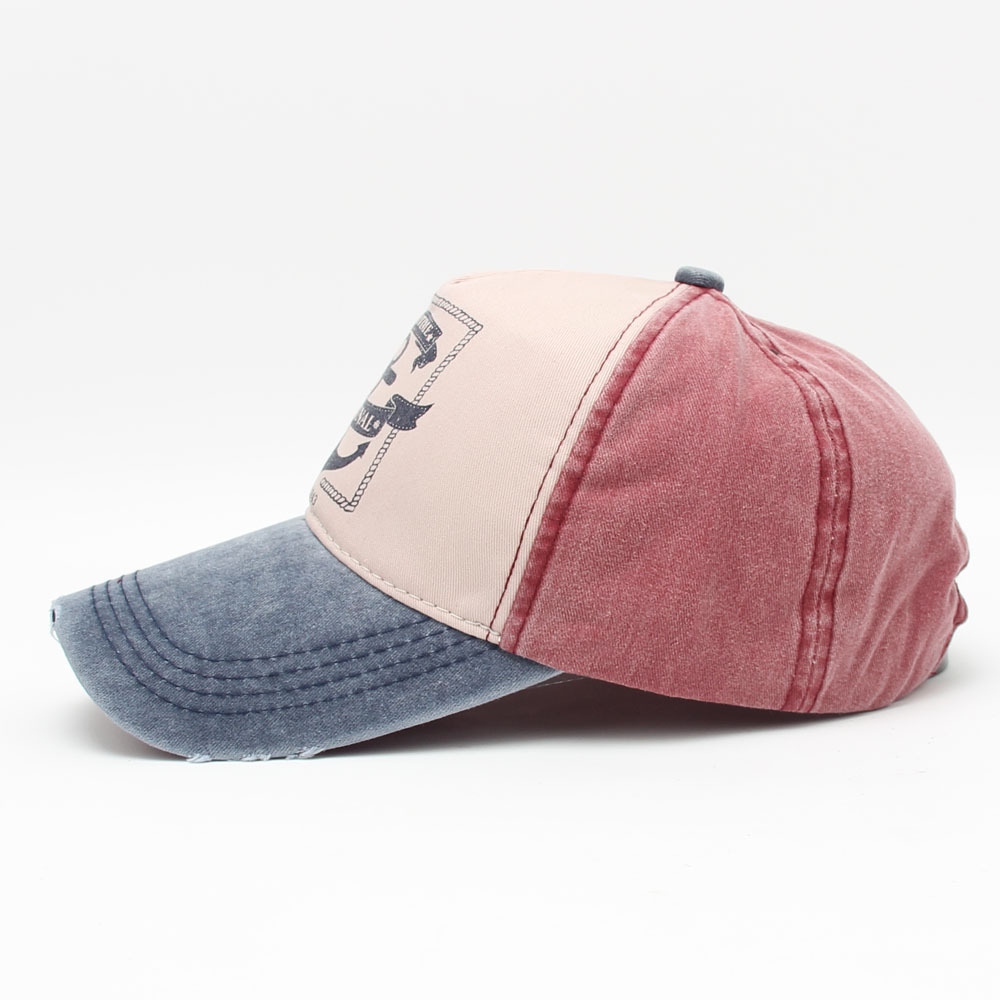 a74fd845f US $5.42 5% OFF|Pirate Ships Anchor Printing Baseball Cap Multicolor  Vintage Hat Washed Canvas Caps Adjustable Hip Hop Hats For Men And Women-in  ...